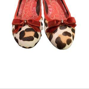 Coach Danice Leopard Ballet Flats